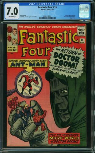 Fantastic Four #16 CGC 7.0 *Damaged Case* -- 1963 -- Dr Doom Ant-Man #0281426001