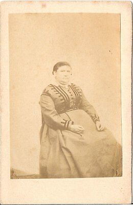 CDV photo Feine Dame / benannt - um 1870