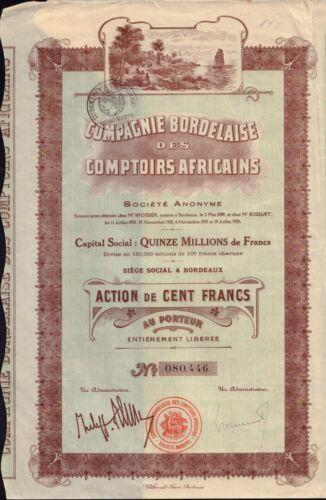AFRICA: Comp. Bordelaise des Comptoirs Africains dd 1920