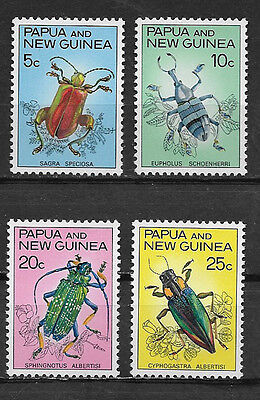 PAPUA & NEW GUINEA , 1967 , BEETLES , SET OF 4  STAMPS ,  PERF, MNH