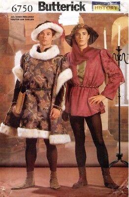 Kostüm Muster Gamaschen (Butterick Geschichte Kostüm Herren Tunika, Hut, Stiefel, Gamaschen Muster 6750)