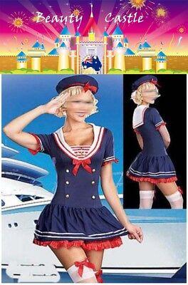 Women's Sailor Captain Uniform  Navy Fancy Dress Halloween Costume Outfit COS010 ()