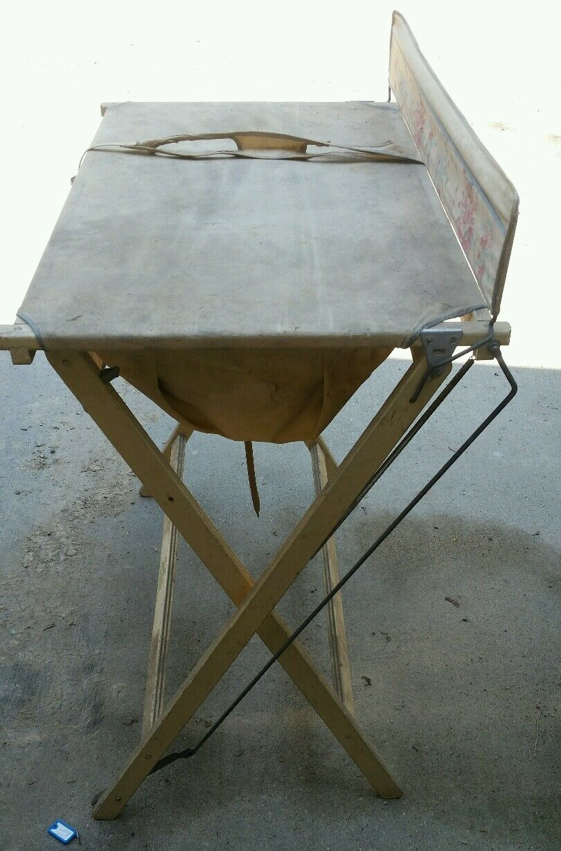 ANTIQUE BABY BATH Tub Trimble Tip Top Kiddie-Bath Portable Fold Up ...
