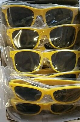 Qty 8 Yellow Sunglasses for Bachelorette Party Costume Wedding Cheap Bulk (Bridal Party Sunglasses Cheap)