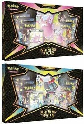 Pokemon Shining Fates Premium Collection Box Crobat & Dragapult Both Sets