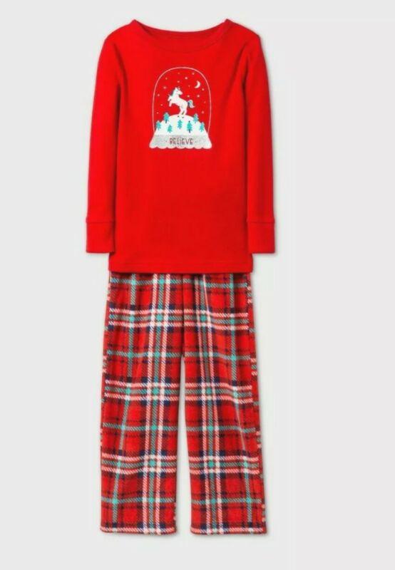 Toddler Girls Unicorn Long sleeve Pajama Set Cat & Jack Red Size 5T