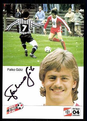 Falko Götz Autogrammmkarte Bayer Leverkusen 1984-85 Original Sign+A 92220