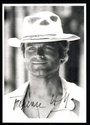 Terence Hill Autogrammkarte Hollywood Superstar