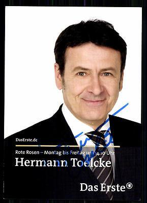 Hermann Toelke Rote Rosen Autogrammkarte Original Signiert ## BC 8878
