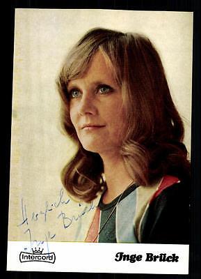 Inga Brück Autogrammkarte Original Signiert ## BC 38428