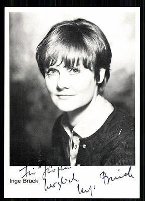 Inge Brück Autogrammkarte Original Signiert ## BC 19094