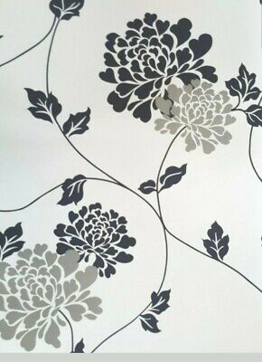 Laura Ashley Isodore White Wallpaper  Slightly imperfect 1 roll
