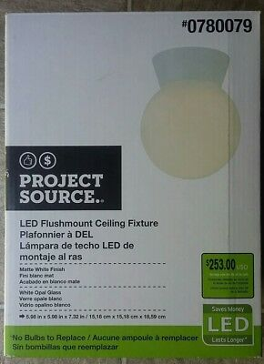BRAND NEW! Project Source LED Flush Mount Ceiling Fixture - Model#: 780079 Ceiling Mount Flush Model