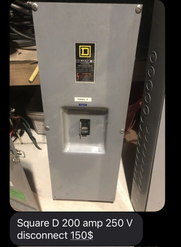 Square D 200 Amp Disconnect-3 Phase