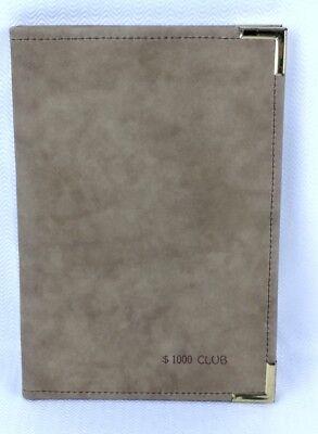 Tan Brown Suede Hazel Note Pad Portfolio 1000 Club