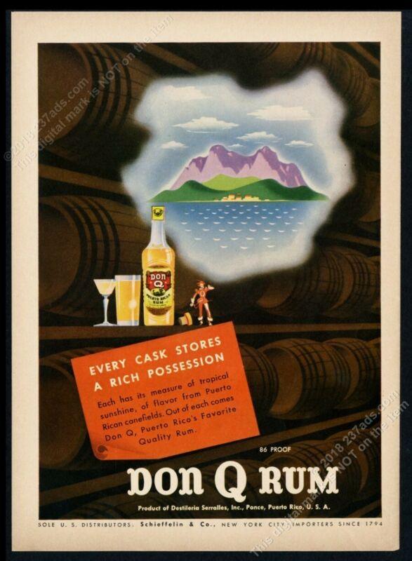 1945 Don Q Rum Puerto Rico art moderne design vintage print ad