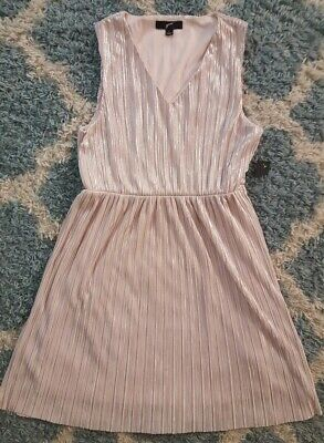 GNW*Women's Pink Metallic Lined Summer Shift Dress*Size Large*NWT