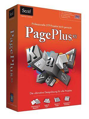 Avanquest PagePlus X5 Professionele Desktop Publishing Design Layout