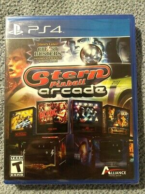 SEALED Stern Pinball Arcade (PS4) [Ghostbusters-Star Trek-AC/DC Edition Tables]