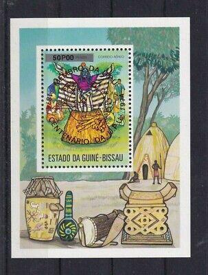 Guinea Bissau Bl.11 bA ** UPU 1974 POST DANCE OVERPRINT SURCHARGE RED CULTURE
