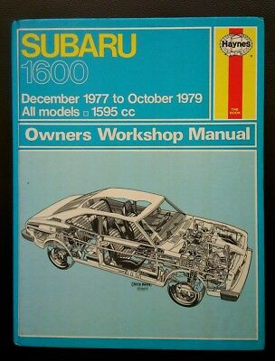 Subaru 1600 haynes workshop manual 1977-1979 inc 4wd & USA models
