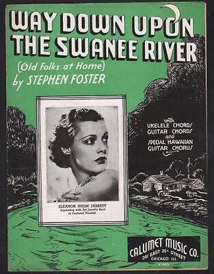 Way Down Upon The Swanee River Old Folks At Home 1935 EleanorJarrett Sheet (Way Down Upon The Swanee River Sheet Music)