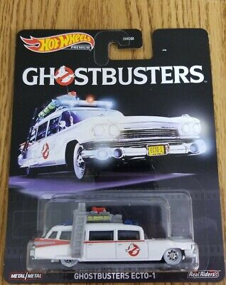 💥Hot Wheels Ghostbusters Ecto-1 Real Riders Premium Retro Entertainment New💥