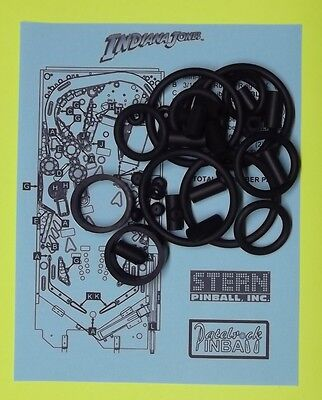 Stern Indiana Jones pinball rubber ring kit