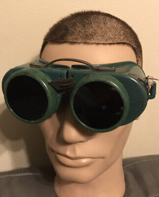 Vtg Jackson Products Usa 70 Series Welding Safety Goggles Glasses Steam Punk