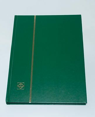 LIGHTHOUSE 32 PAGE HARDCOVER STOCKBOOK, GREEN - LS4/16 - OVER 30 OFF