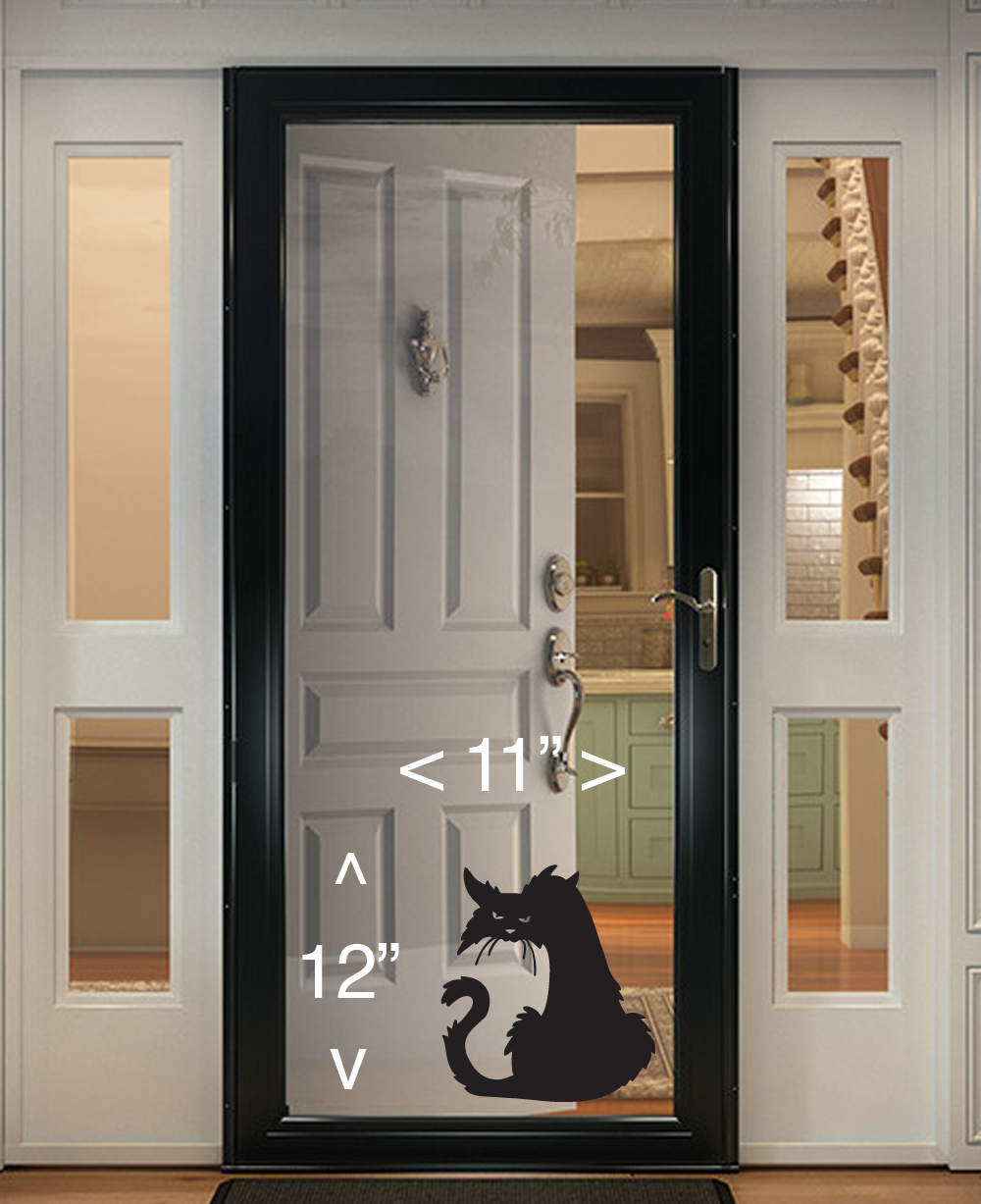 Home Decoration - Scary Cat Halloween Wall Window Decal Vinyl Sticker Decor  Horror Scary
