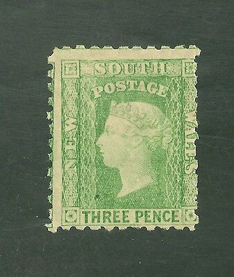 New South Wales #54e (SG #211a) Fine OG - 1874 3p Queen Victoria SCV $175.00