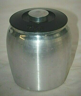 Vintage 50's Kromex Spun Aluminum Silver Tea Container Kitchen Tool Replacement