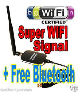 free bluetooth super signal range 30dbm usb wireless wifi. Black Bedroom Furniture Sets. Home Design Ideas