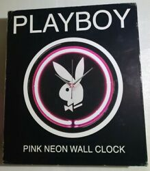 Neon Pink Playboy Wall Clock