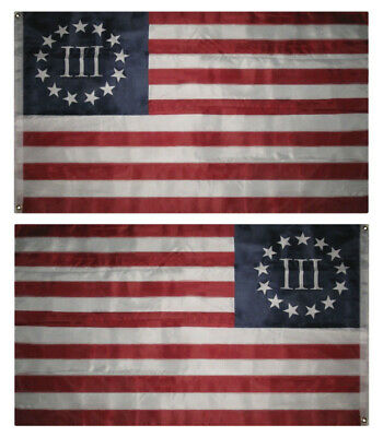 3x5 Betsy Ross Nyberg III Flag 3'x5' 3 Percent Three Poly Ny