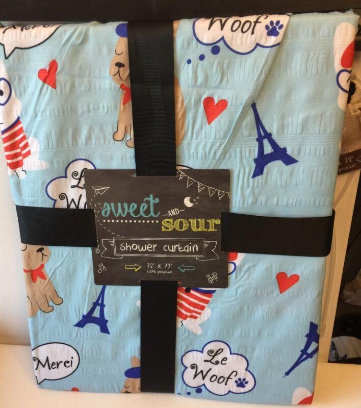 French Bulldog Fabric Shower Curtain