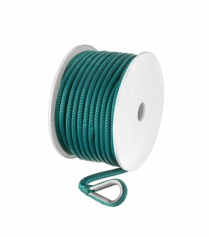 Seachoice 42211 Double-Braid Nylon Anchor Line – Teal – 3/8 Inch x 100 Feet