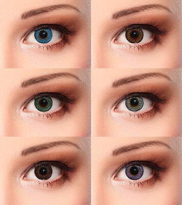 Designlenses© Farbige Kontaktlinsen in verschiedenen Farben 3 Monatslinsen