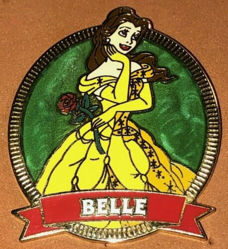 DISNEY WDW 2003 PRINCESS SWIRL BELLE FROM BEAUTY AND THE BEAST PORTRAIT PIN