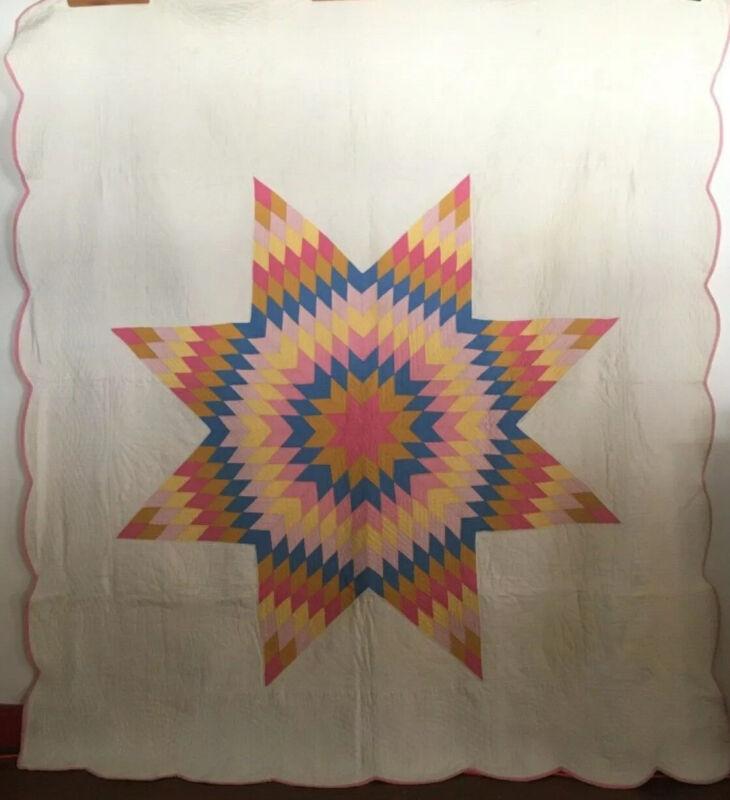 American Lone Star Antique Quilt