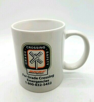 BNSF Railroad Coffee Mug Cup railroad crossing safety railroad employee mug