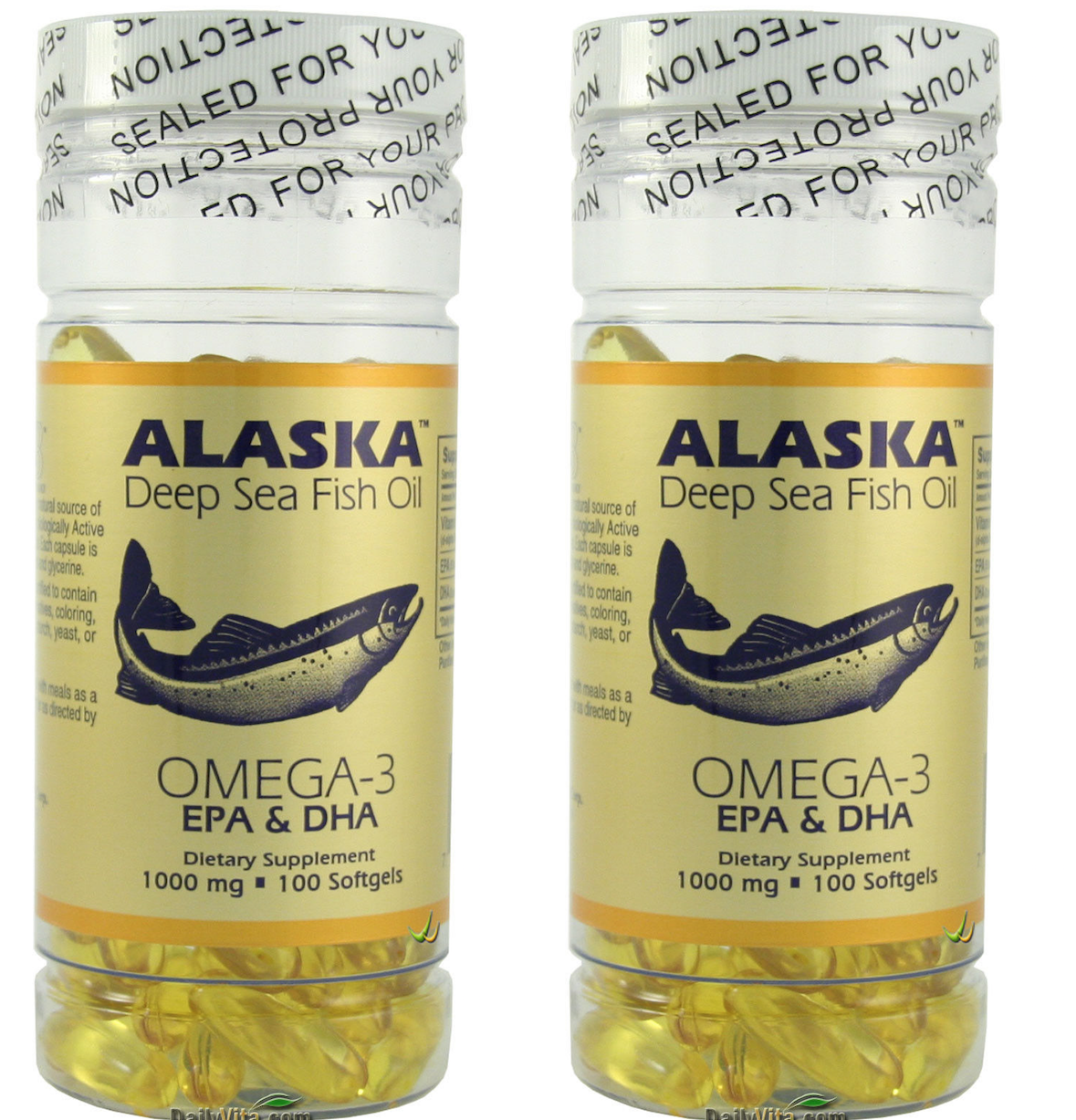 Alaska Deep Sea Fish Oil, Omega 3, DHA/EPA 1000 mg 200 Softg