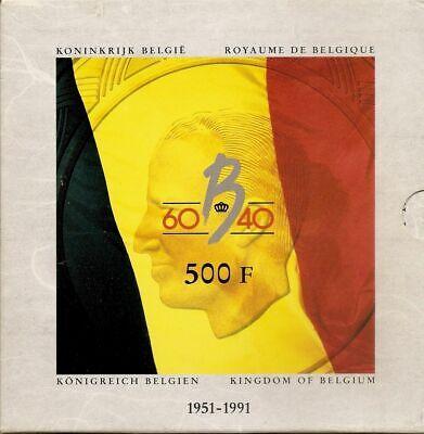 België: 3 X 500 frank 1991 (PROOF) in originele blister