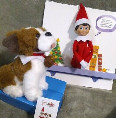 Elf On The Shelf DOLL + Saint Bernard PET * Boy and Dog