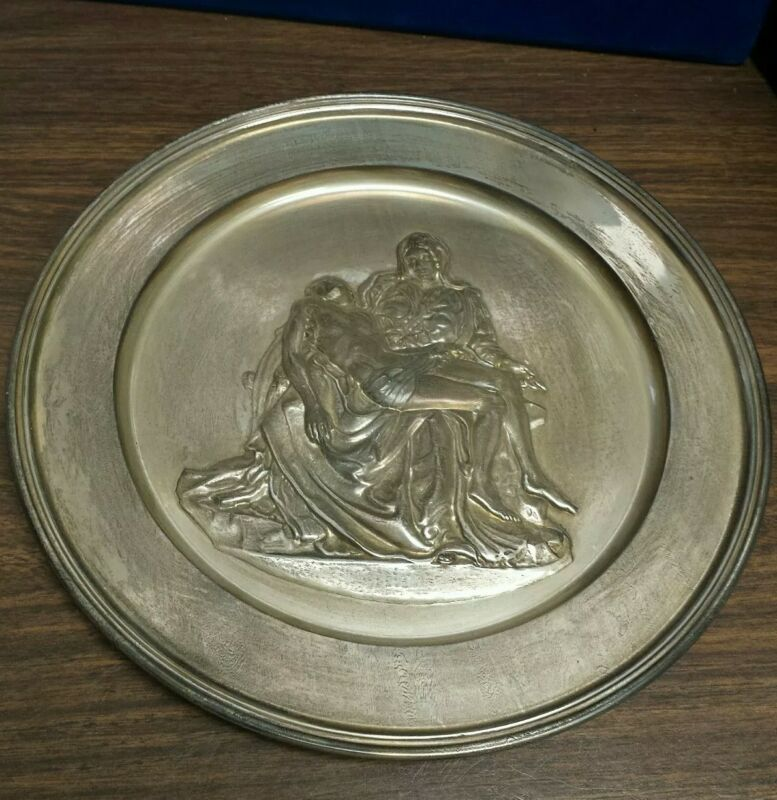 """Pieta"" by Michelangelo Sterling Silver Collector Plate"
