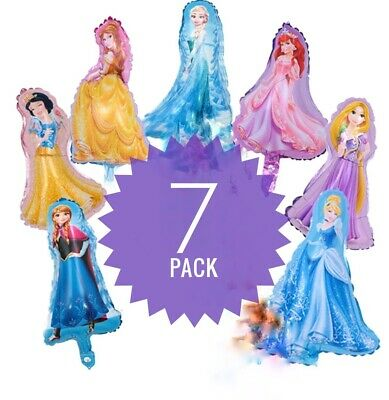 Princess Balloon (❤7 Mini DISNEY PRINCESS Foil Party Balloons AIR Fill ❤ FREE)