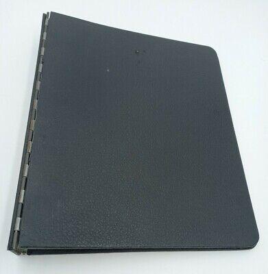 Vintage 3-ring Black Binder New York Loose Leaf Corp Notebook
