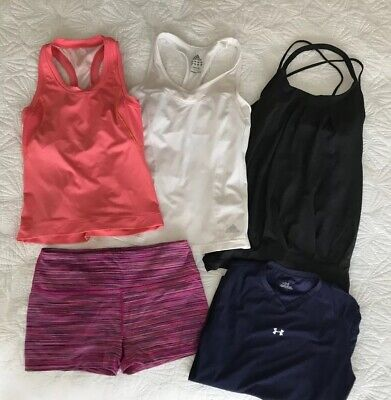 Lot Womens ADIDAS Athleta AH Running Exercise Workout Gym Clothes Size Small