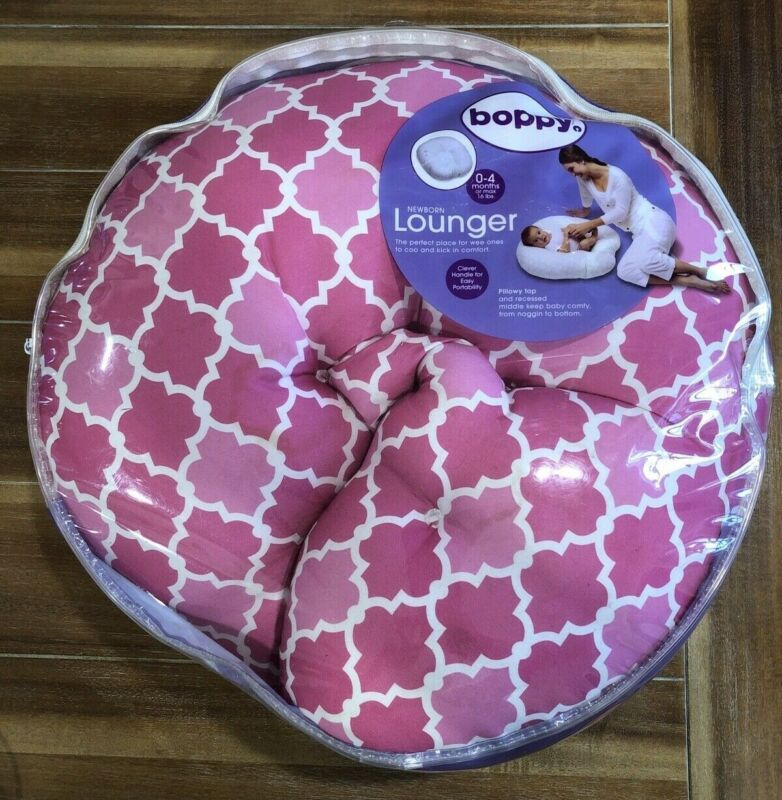 Boppy Newborn Baby Lounger 0 To 4 Months Pillow Top Pre Owned